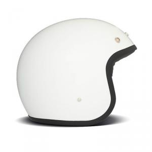 DMD VINTAGE SOLID WHITE Jet Helmet - White