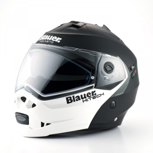 BLAUER SKY Modular Helmet - Matt Black and Pearl White