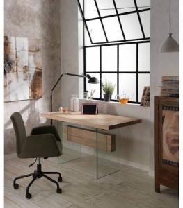 Tavolo modello abaco con piana mdf e vetro