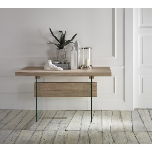 Tavolo ingresso piana in legno grezzo abaco con gambe in - Tavolo vetro temperato opinioni ...
