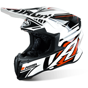 CASCO MOTO CROSS AIROH TWIST AVANGER WHITE GLOSS TWAN38, TAGLIE L E XL