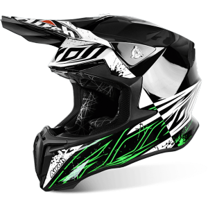 CASCO MOTO CROSS AIROH TWIST SPOT GLOSS TWSP17