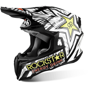 CASCO MOTO CROSS AIROH TWIST ROCKSTAR MATT TWRK11