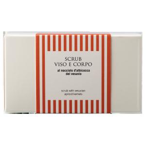Scrub viso e corpo al nocciolo d'albicocca del Vesuvio