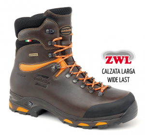 1003 JACKRABBIT TOP GTX® RR WIDE LAST - Botas de Caza - Dark Brown/Orange