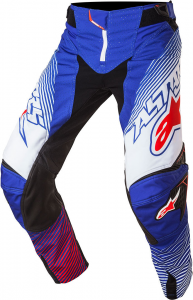 PANTALONI MOTO CROSS ALPINESTARS TECHSTAR FACTORY 2017 BLUE WHITE RED