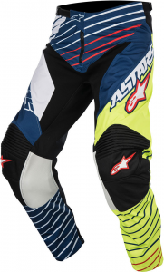 PANTALONI MOTO CROSS ALPINESTARS RACER BRAAP JERSEY YELLOW FLUO WHITE DARK BLUE