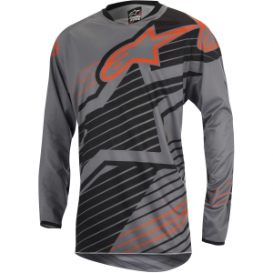 MAGLIA MOTO CROSS ALPINESTARS RACER BRAAP JERSEY DARK GRAY BLACK ORANGE FLUO