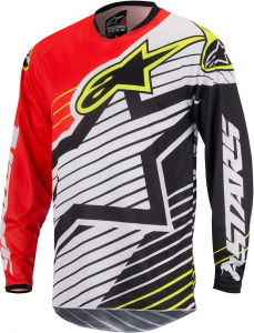 MAGLIA MOTO CROSS ALPINESTARS RACER BRAAP JERSEY RED WHITE BLACK