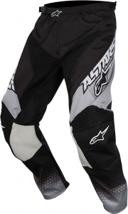 PANTALONI MOTO CROSS ALPINESTARS RACER SUPERMATIC BLACK LIGHT GRAY WHITE cod. 3721517