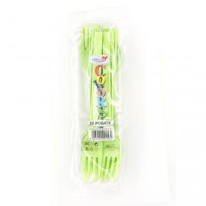 Forchette Verde mela in plastica