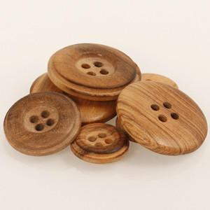 Accessori Drops: BOTTONE CEDRO  (Wood Burned)