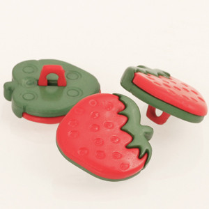 Accessori Drops: BOTTONE FRAGOLA (strawberry)