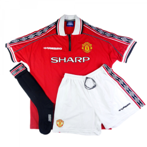 1998-00 MANCHESTER UNITED FULL KIT MAGLIA HOME (TOP)