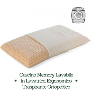 Come Si Lava Un Cuscino In Lattice.Cuscino Memory Washable Lavabile In Lavatrice