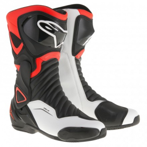 STIVALI MOTO RACING ALPINESTARS SMX-6 V2 RED BLACK WHITE