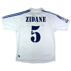 2001 Real Madrid Maglia Home L Zidane  #5 (Top)