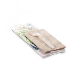 Posate biodegradabili singole imbustate
