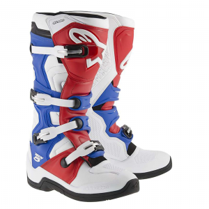 STIVALI MOTO CROSS ALPINESTARS TECH 5 WHITE RED BLUE