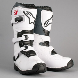 STIVALI MOTO CROSS ALPINESTARS TECH 3 BAMBINO WHITE BLACK