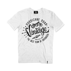 T-shirt Berider Vintage Hurricane Road bianco