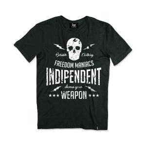 T-shirt Berider Vintage Indipendent nero