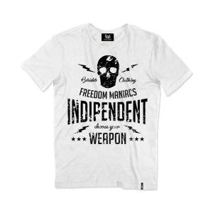 T-shirt Berider Vintage Indipendent bianco
