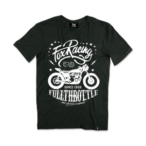 T-shirt Berider Vintage Fox Racing nero