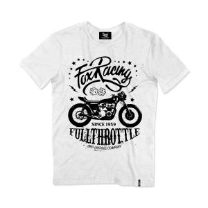 T-shirt Berider Vintage Fox Racing bianco