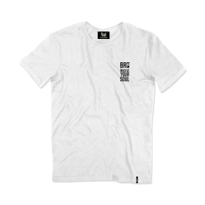 T-shirt Berider Vintage Support Good Times bianco