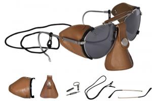 BARUFFALDI ANNAPURNA MONTAGNA Sunglasses - Brown Leather