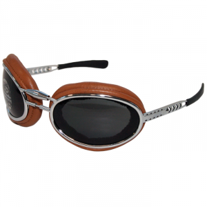 BARUFFALDI SFERICUM PAD Motorcycle Goggles - Brown Leather