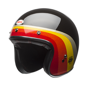 BELL CUSTOM 500 CHEMICAL CANDY Jet Helmet - Black and Gold