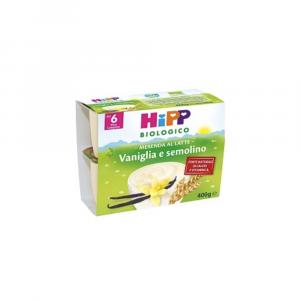 HIPP BIOLOGICO MERENDA VANIGLIA E SEMOLINO - OMOGENIZZATO DAL 6 MESE COMPIUTO