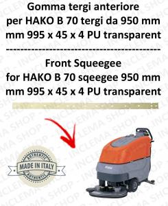 B 70 - GOMMA TERGI da 950 mm anteriore per lavapavimenti  HAKO