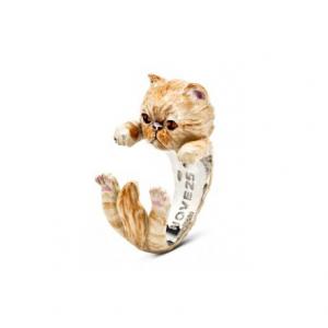 CAT FEVER - Hug Ring Smaltato Persiano Tabby