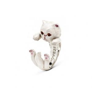 CAT FEVER - Hug Ring Smaltato Persiano White