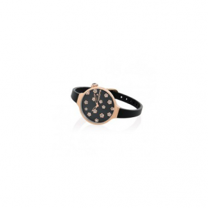 HOOPS ICON FLOWERS BLACK
