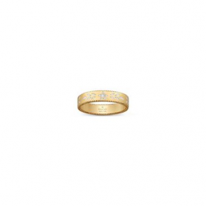 cf1128ae9 GUCCI ICON YELLOW GOLD AND WHITE ENAMEL RING - 4mm