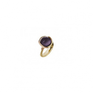 OLE LYNGGAARD COPENHAGEN - RING LOTUS WITH AMETHYST AND DIAMONDS