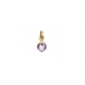 OLE LYNGGAARD COPENHAGEN - DEW DROPS CHARM IN YELLOW GOLD AND AMETHYST