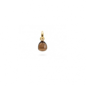 OLE LYNGGAARD COPENHAGEN - SWEET DROPS CHARM YELLOW GOLD AND SMOKY QUARTZ