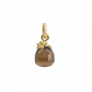 OLE LYNGGAARD COPENHAGEN - SWEET DROPS FILIGREE CHARM YELLOW GOLD AND SMOKY QUARTZ