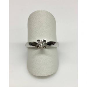 SOLITARIO ORO BIANCO CRISTINA - Diamante 0.18 ct, colore G, SI