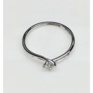 SOLITARIO ORO BIANCO JOSEPHINE, diamanti 0.12 ct e 0.01 ct, colore G,  SI