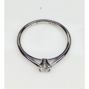 SOLITARIO ORO BIANCO ISA, diamante 0.10 ct,  colore G, SI