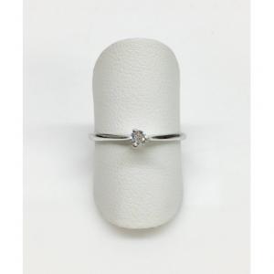 SOLITARIO ORO BIANCO, diamante 0.09 ct, colore G, SI