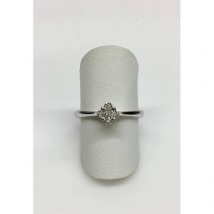 SOLITARIO ORO BIANCO FORTUNE, diamante 0.16 ct, colore G, SI