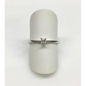 SOLITARIO ORO BIANCO PETIT, diamante 0.07 ct, colore G, SI
