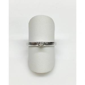 SOLITARIO ORO BIANCO BELLE, diamante 0.03 ct, colore G, VVS